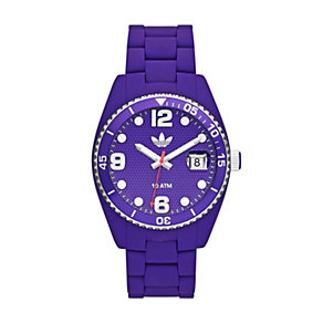 Adidas Brisbane Men's Purple Silicone Bracelet Watch - Product number 1386573