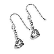 Project D stainless steel heart logo earrings - Product number 1386816