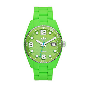 Adidas Originals Brisbane Green Silicone Strap Watch - Product number 1386867