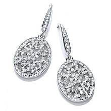 Buckley Vintage Oval Drop Earrings - Product number 1387251
