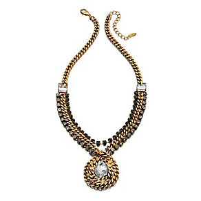 Fiorelli Gold-Plated Crystal Set Statement Necklace - Product number 1387278