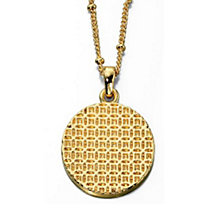 Fiorelli Gold-Plated Textured Disc Pendant - Product number 1387286