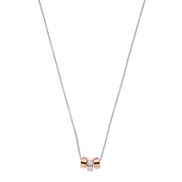 Emporio Armani Sterling Silver & Rose Gold Tone Necklace - Product number 1387359