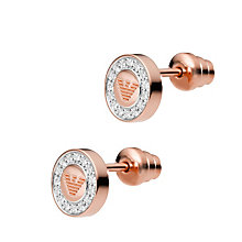 Emporio Armani Sterling Silver & Rose Gold Tone Earrings - Product number 1387707