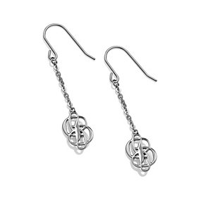 Project D stainless steel double logo earrings - Product number 1387723