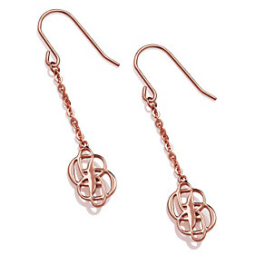 Project D rose gold-plated double logo earrings - Product number 1387731