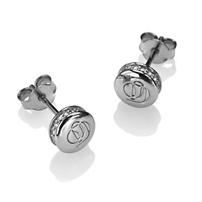 Project D stainless steel stone set stud earrings - Product number 1387863