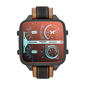 Diesel Men's Square Dial Brown Leather Strap Watch - Product number 1388177