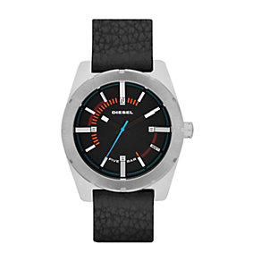 Diesel Men's Black Leather Strap Watch - Product number 1388282