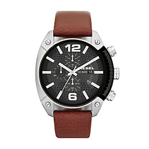 Diesel Men's Brown Leather Strap Watch - Product number 1388304