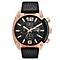 Diesel Mens Overflow Black Dial & Leather Strap Watch - Product number 1388312