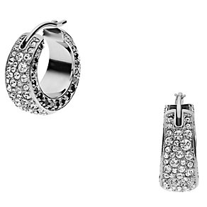 DKNY Stainless Steel Crystal Hoop Earrings - Product number 1388371