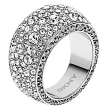 DKNY Stainless Steel Crystal Ring Size M 1/2 - Product number 1388398