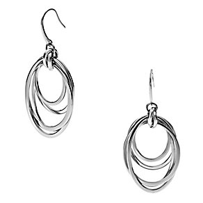 DKNY Stainless Steel Woven Drop Earrings - Product number 1388436