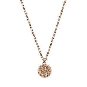 DKNY Rose Gold-Plated Crystal Disc Necklace - Product number 1388460