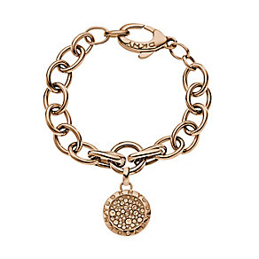 DKNY Rose Gold-Plated Crystal Disc Bracelet - Product number 1388479