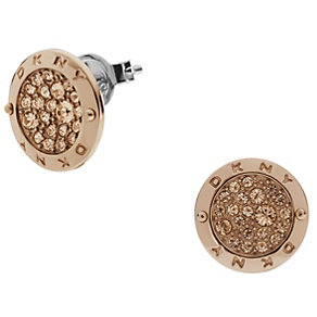 DKNY Rose Gold-Plated Crystal Disc Stud Earrings - Product number 1388487