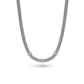 Silver Rhodium-Plated 18