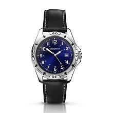Sekonda Men's Stainless Steel Black PU Strap Watch - Product number 1392824