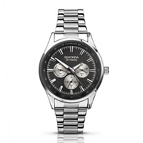 Sekonda Men's Black Dial Stainless Steel Bracelet Watch - Product number 1392832