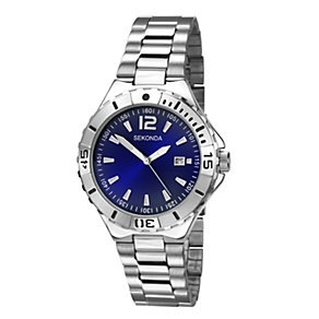 Sekonda Men's Blue Dial Stainless Steel Bracelet Watch - Product number 1392867