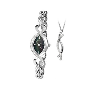 Sekonda Ladies' Stainless Steel Bracelet Watch & Pendant Set - Product number 1392883