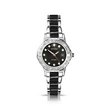 Sekonda Ladies' Stone Set Two Tone Black Bracelet Watch - Product number 1394053
