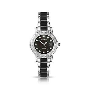Sekonda Ladies' Stone Set Two Tone Black Bracelet Watch - Product number 1394053