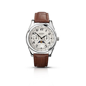 Sekonda Men's Moonphase Brown Leather Strap Watch - Product number 1394185