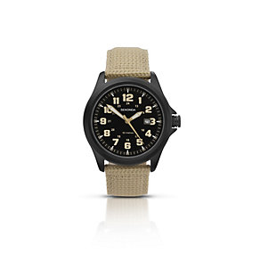 Sekonda Men's Black Ion-Plated Beige Nylon Strap Watch - Product number 1394207