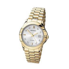 Sekonda Men's Gold-Plated Stainless Steel Bracelet Watch - Product number 1394223