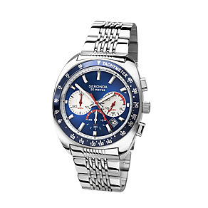 Sekonda Men's Blue Dial Stainless Steel Bracelet Watch - Product number 1394266