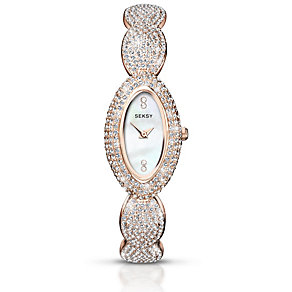 Seksy Ladies' Stone Set Rose Gold-Plated Bracelet Watch - Product number 1394304