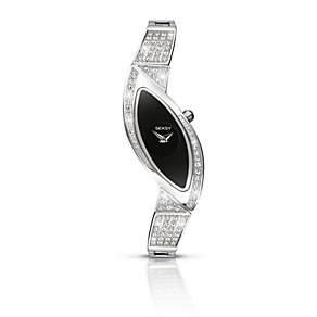 Seksy Ladies' Black Dial Stainless Steel Bracelet Watch - Product number 1394312