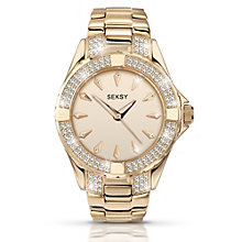 Seksy Ladies' Stone Set Gold-Plated Bracelet Watch - Product number 1394347