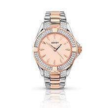 Seksy Ladies' Stone Set Two Tone Bracelet Watch - Product number 1394355