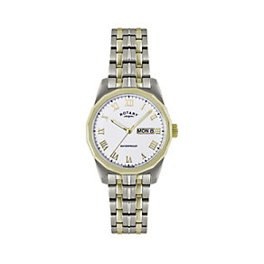 Rotary Men's Stainless Steel & Gold-Plated Bracelet Watch - Product number 1394533