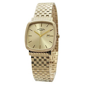 Rotary Men's Champagne Dial Gold-Plated Bracelet Watch - Product number 1394541
