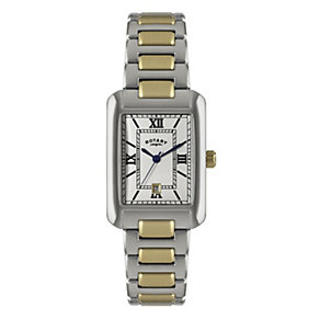 Rotary Men's Rectangle Two Colour Bracelet Watch - Product number 1394576