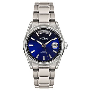 Rotary Havana Men's Blue Dial Stainless Steel Bracelet Watch - Product number 1394584