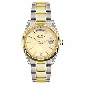 Rotary Havana Men's Champagne Dial Two Colour Bracelet Watch - Product number 1394592