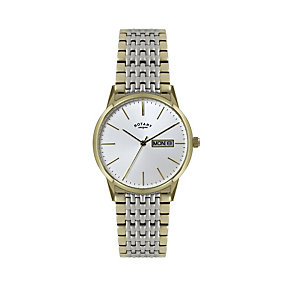 Rotary Men's Two Colour Stainless Steel Bracelet Watch - Product number 1394614