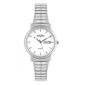 Rotary Men's White Dial Stainless Steel Bracelet Watch - Product number 1394622