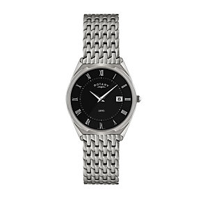 Rotary Men's Ultra Slim Stainless Steel Bracelet Watch - Product number 1394649