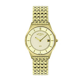 Rotary Men's Champagne Dial Gold-Plated Bracelet Watch - Product number 1394665