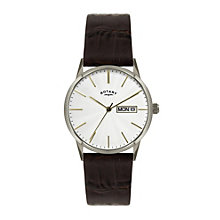 Rotary Men's Stainless Steel Brown Leather Strap Watch - Product number 1394797