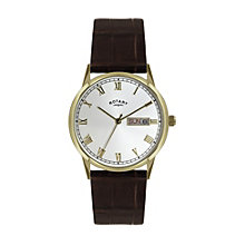 Rotary Men's Stainless Steel Brown Leather Strap Watch - Product number 1394800
