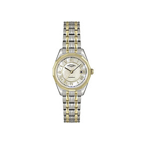 Rotary Ladies' Champagne Dial Two Colour Bracelet Watch - Product number 1394908