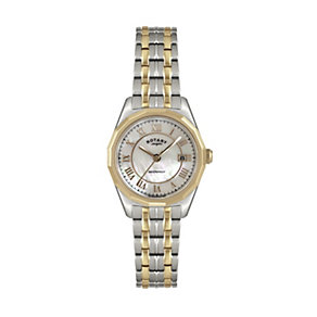 Rotary Ladies' Mother Of Pearl Two Colour Bracelet Watch - Product number 1394916