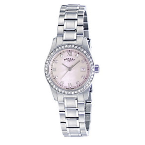 Rotary Ladies' Stone Set Stainless Steel Bracelet Watch - Product number 1394924
